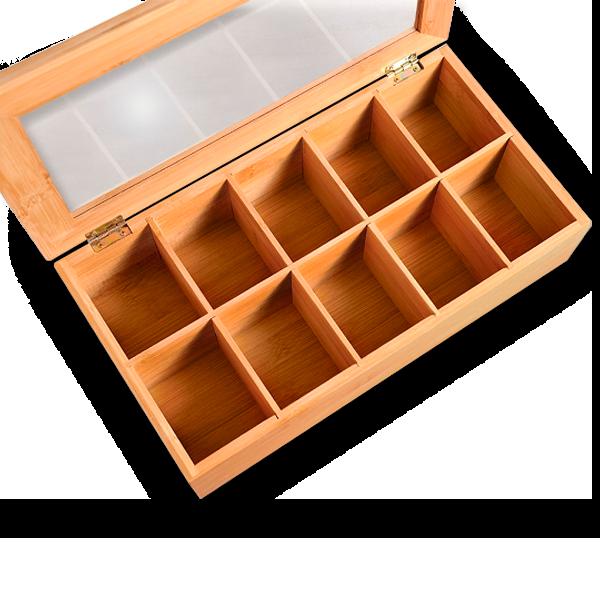 geöffnete Kesper Bambus Box